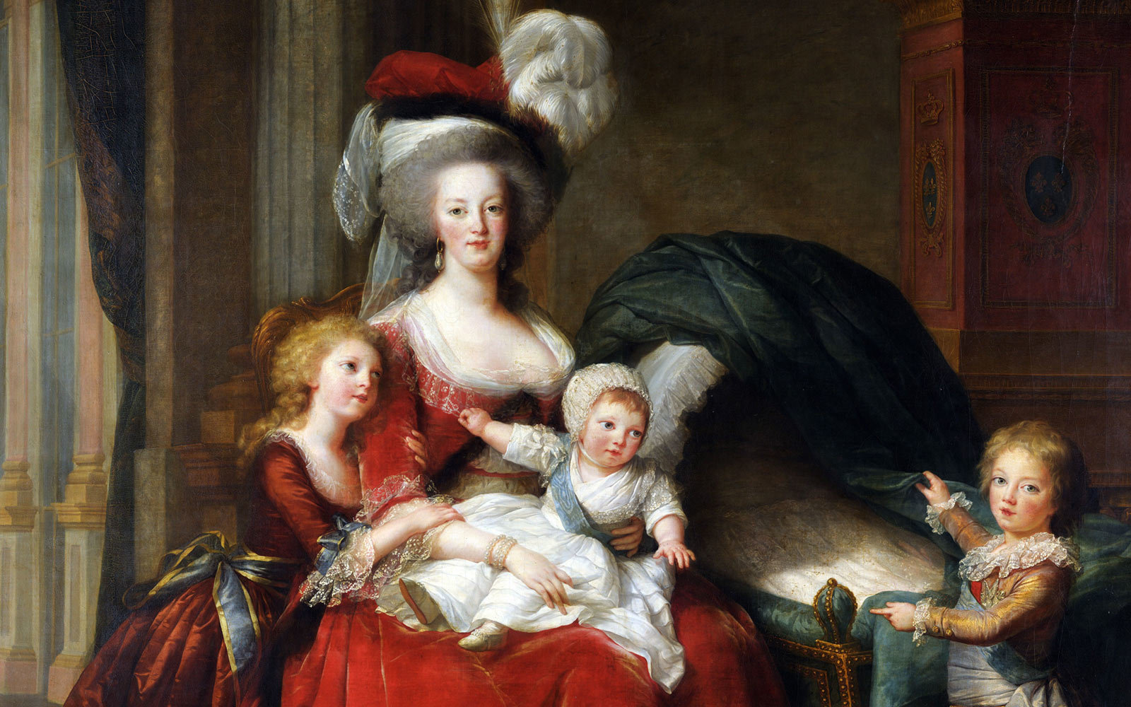 Marie Antoinette and her Children, Painted by Élisabeth Vigée Le Brun