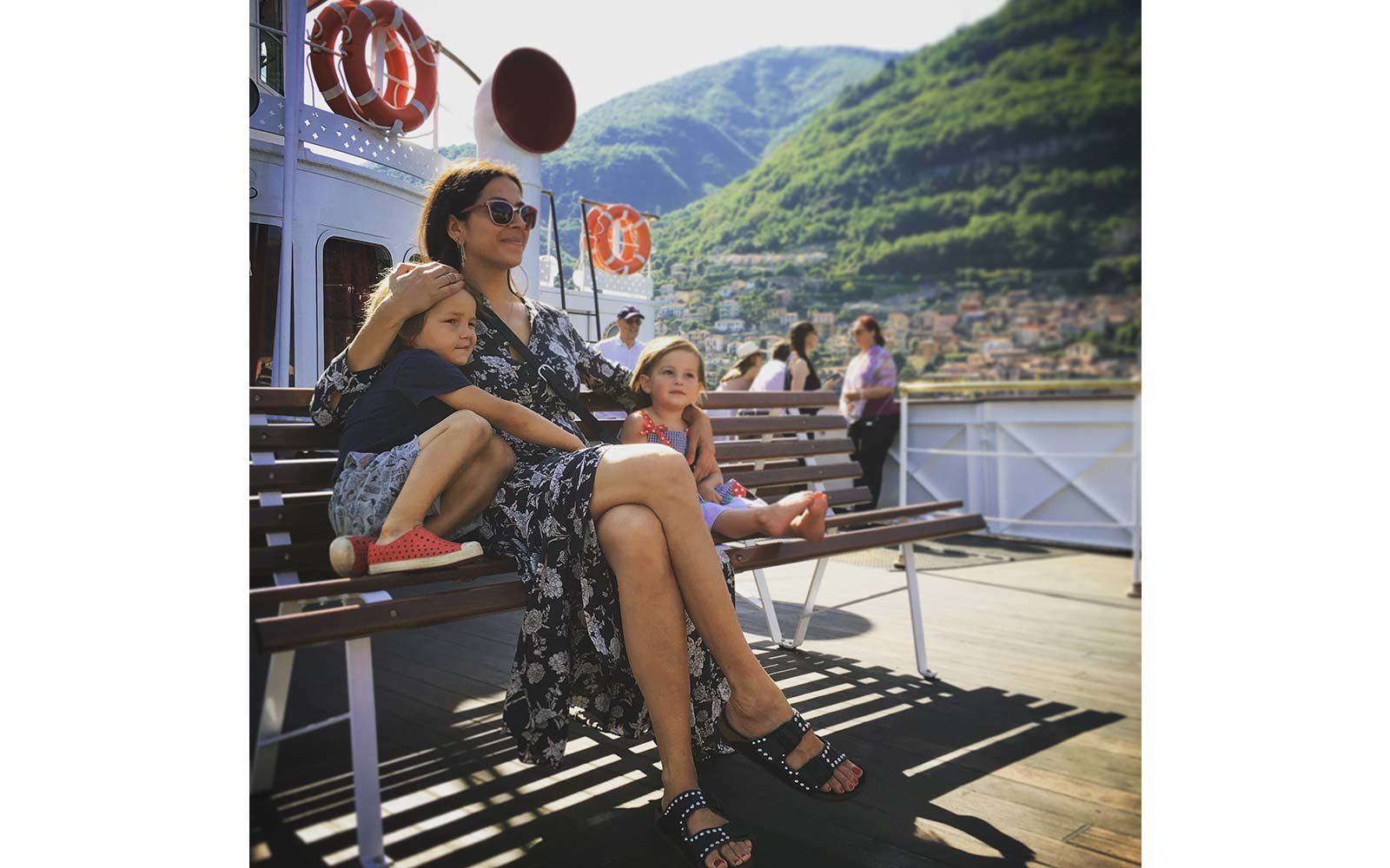 Rebecca Minkoff and kids on vacation