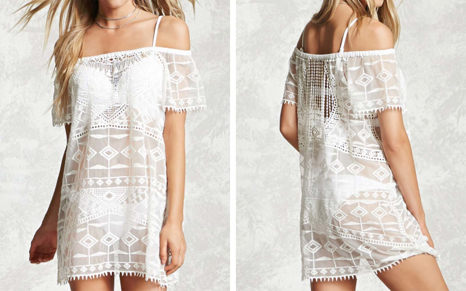 Forever 21 Crochet Embroidered Cover-Up