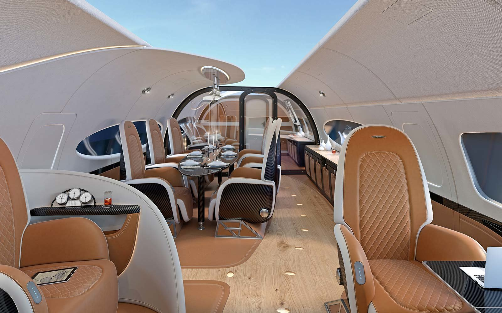 Airbus A319 Conference Dining Billionaire Flying Car