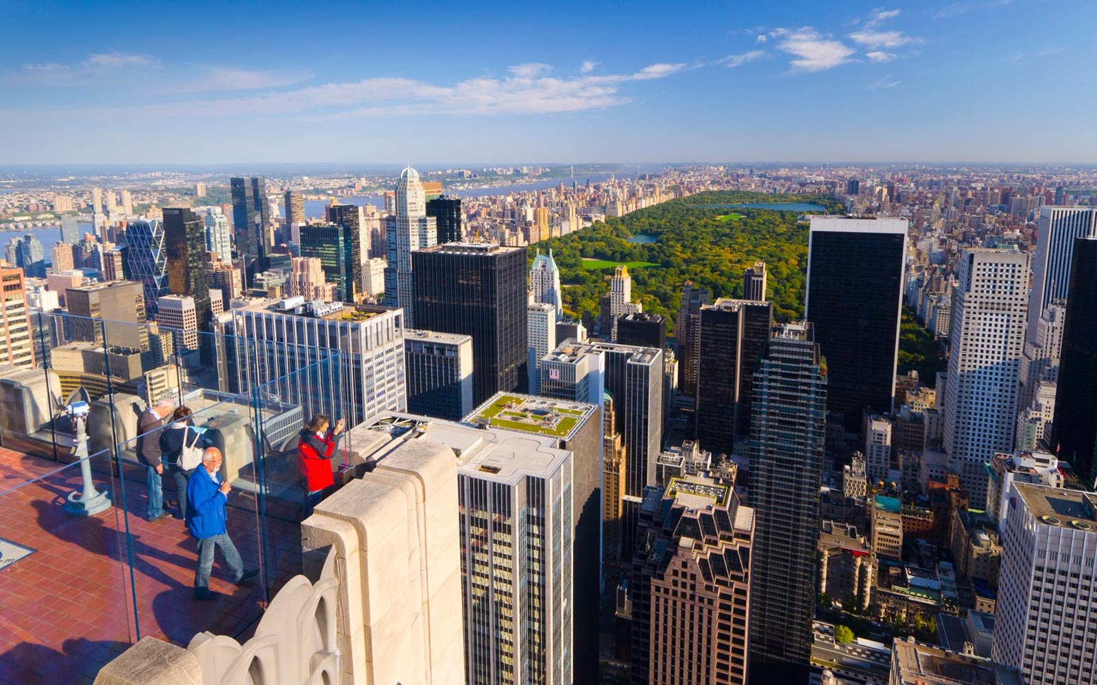 Central Park from Top of The Rock, Rockefeller Center, New York City, New York