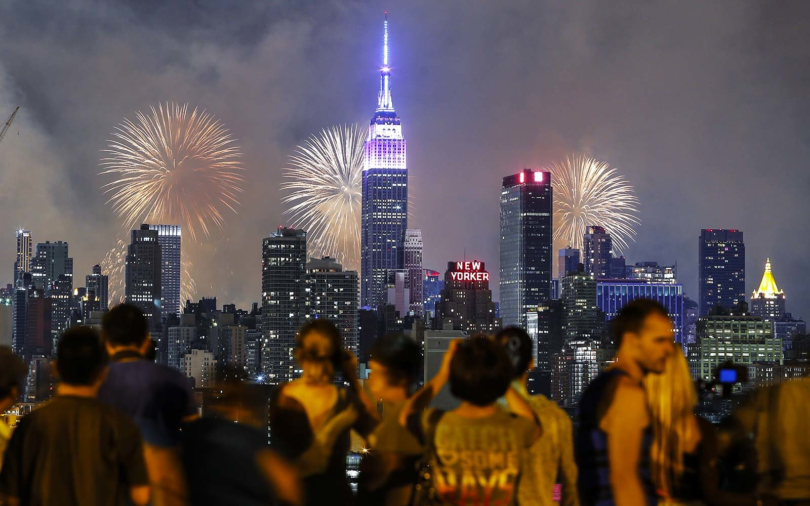 Fourth of July Independence Day Celebrations Holiday New York City Empire State Building fireworks