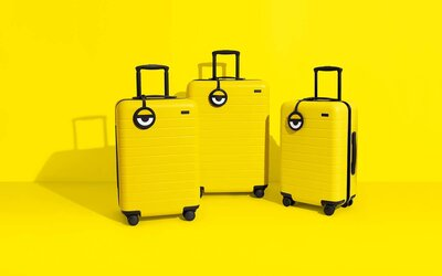 bcf7d0f7d9 Away travel luggage Minions Despicable Me 3 luggage collaboration yellow  style