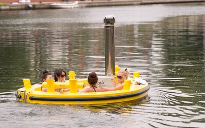Hot Tub Boat >> Float Down A London Canal In A Hot Tub Boat Travel Leisure