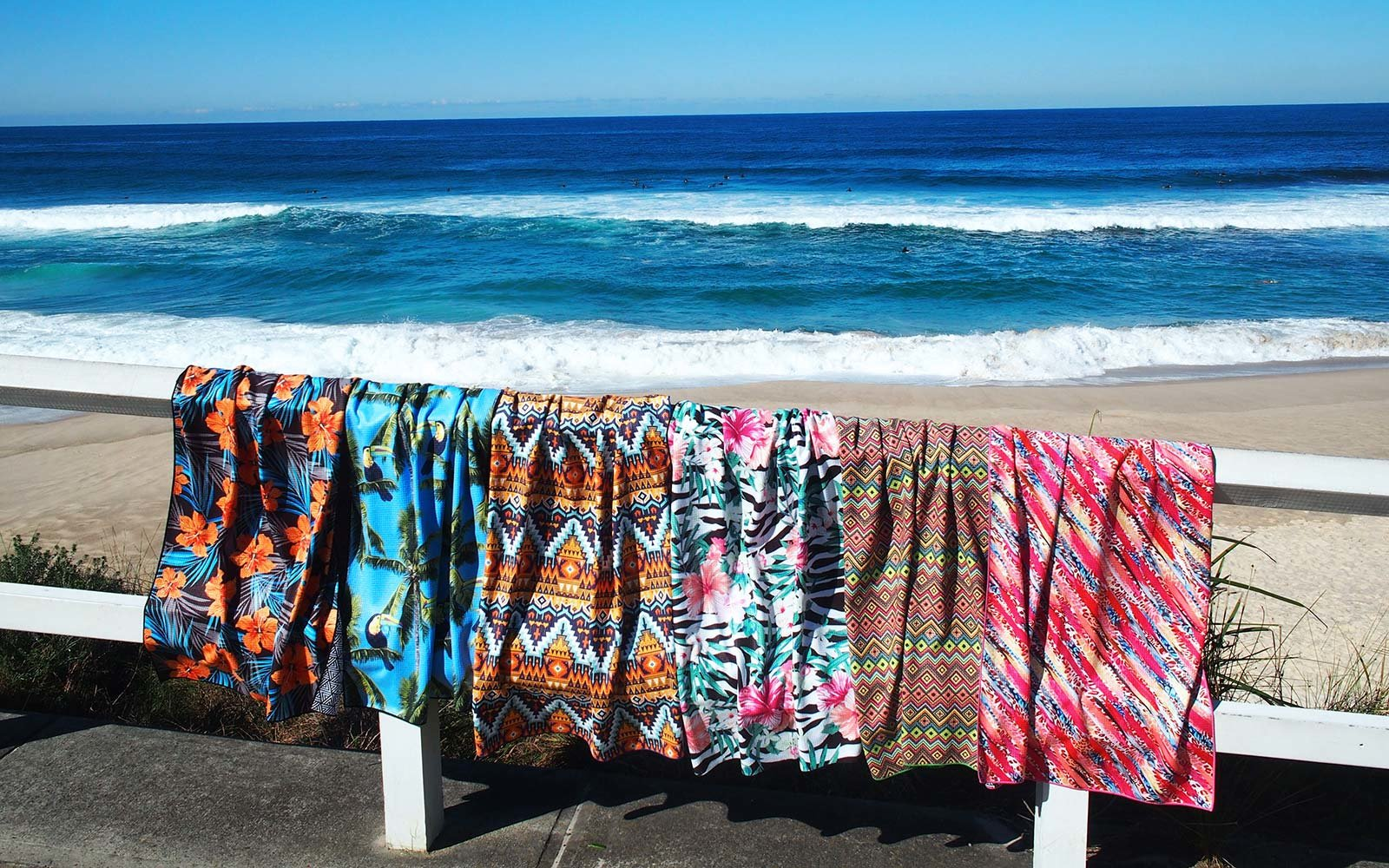 Tesalate Beach towel repels sand Australia beach summer