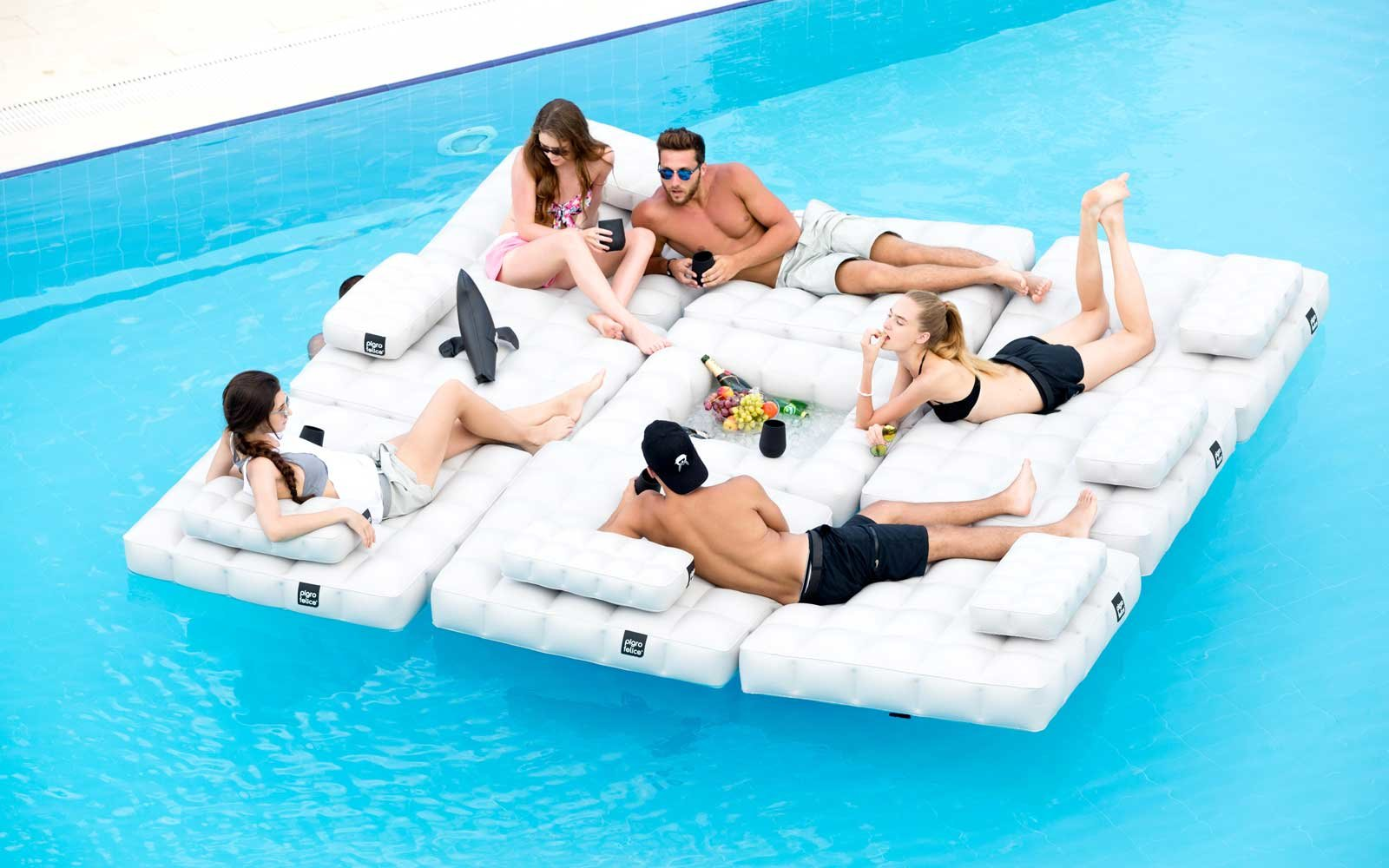 This $450 Air Bed Is the Fanciest Pool Float Ever | Travel + ...