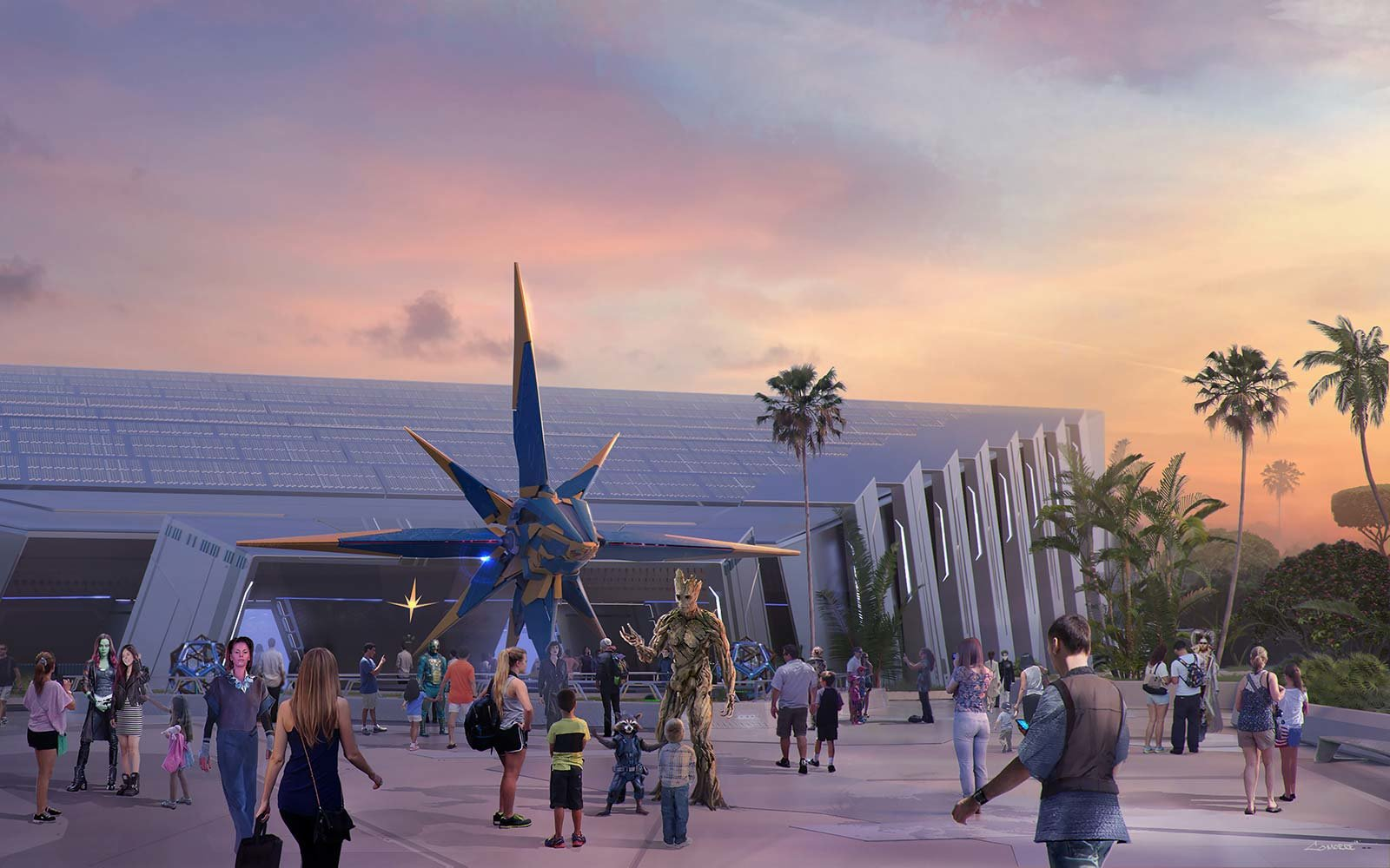 GUARDIANS OF THE GALAXY ATTRACTION COMING TO EPCOT Disney Marvel Roller Coaster