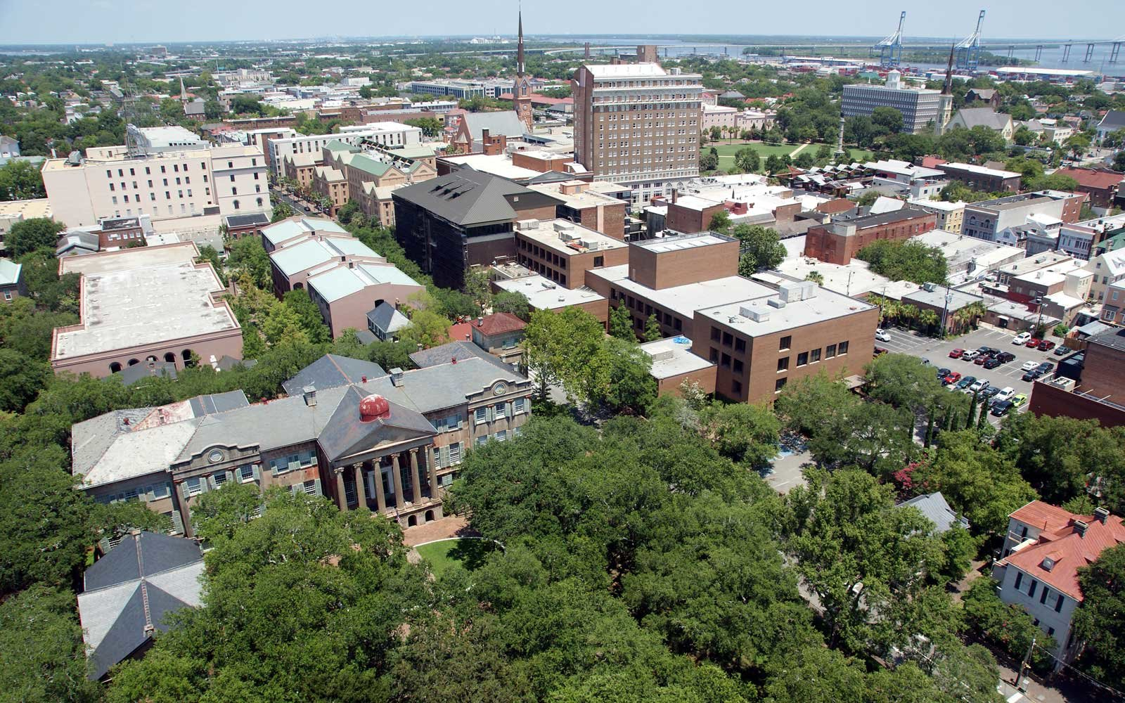 Aerial View of College of Charleston Campus