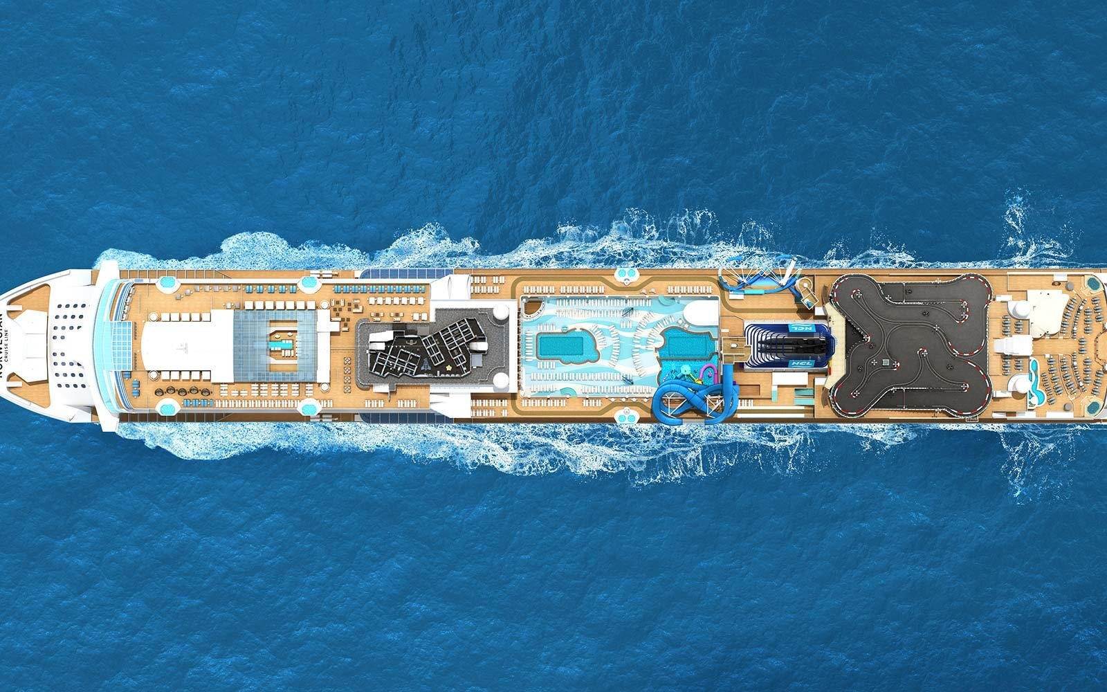 This New Cruise Ship Is Bringing a Go-kart Track, Luxe Spa