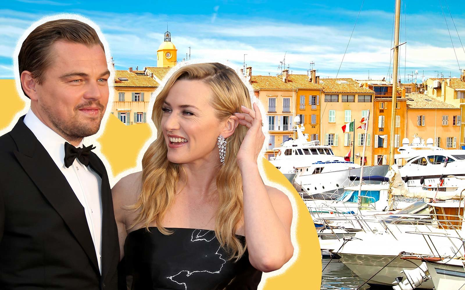 Saint-Tropez, south of France, French Riviera Kate Winslet Leonardo DiCaprio summer holiday travel vacation