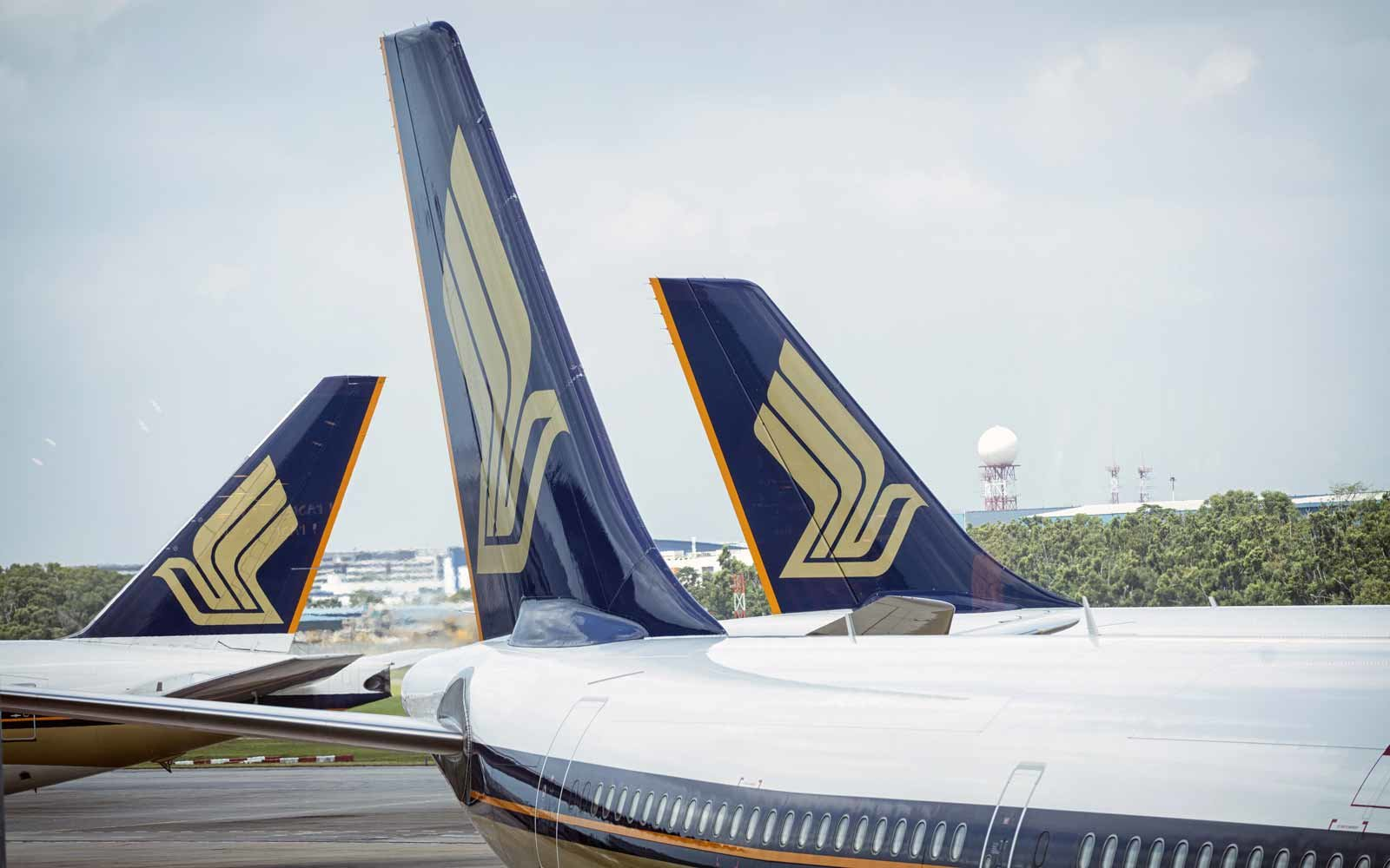 Singapore Airlines Planes at Changi