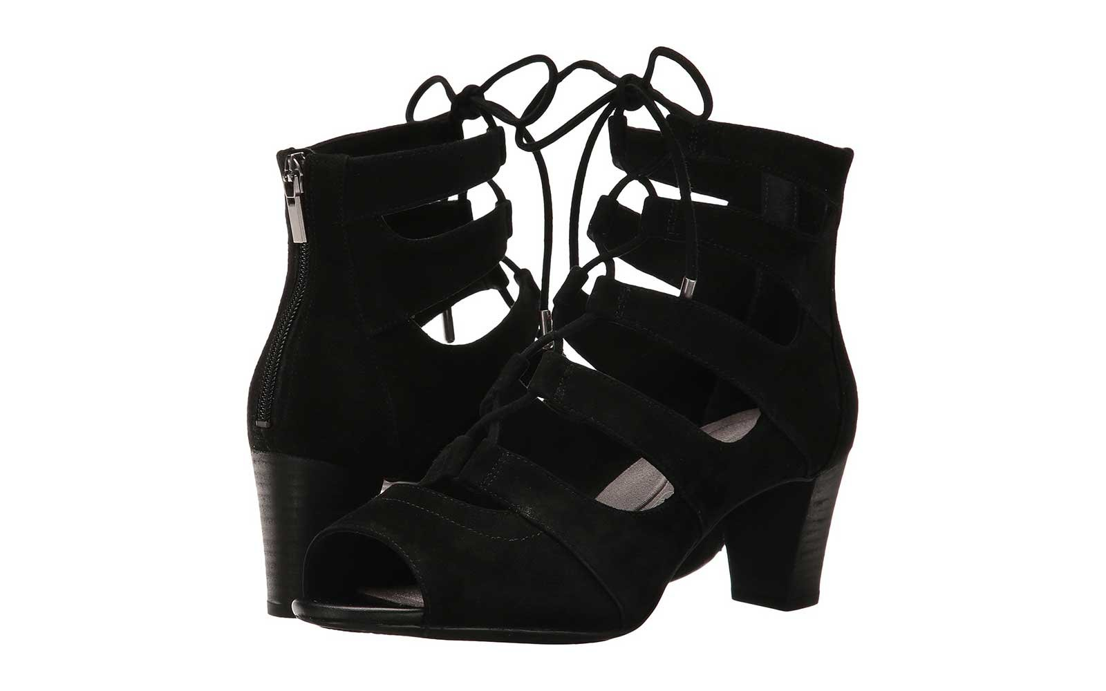 Lace-up Cut-Out Booties