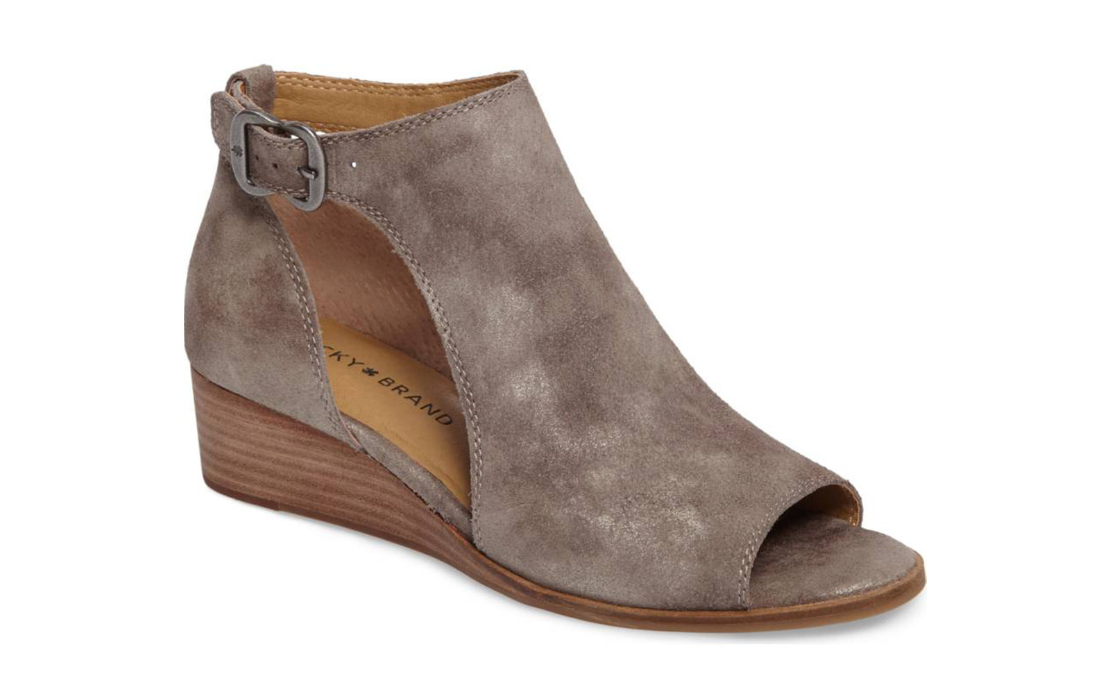 Suede Cutout Booties