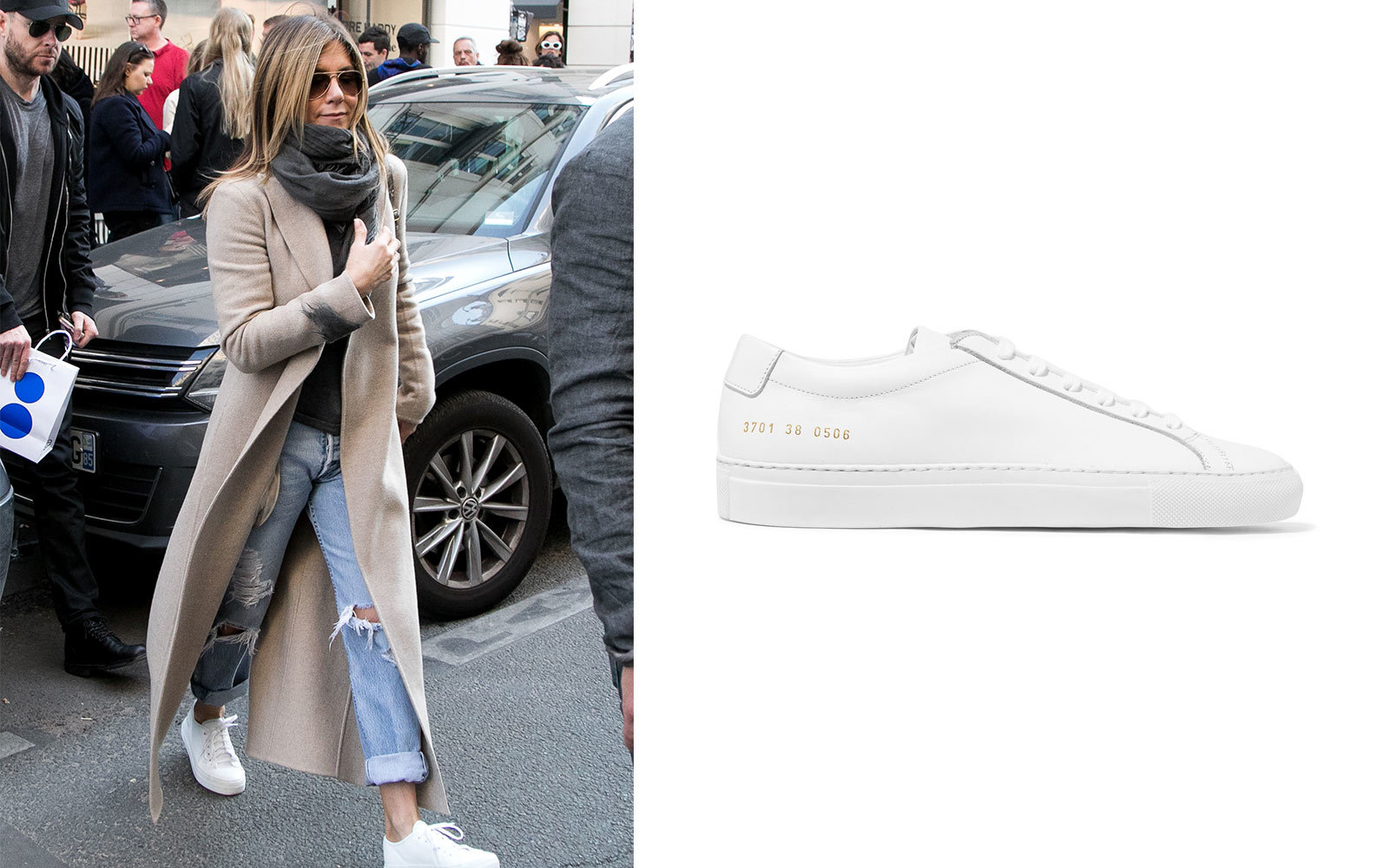 Jennifer Aniston in Common Projects sneakers