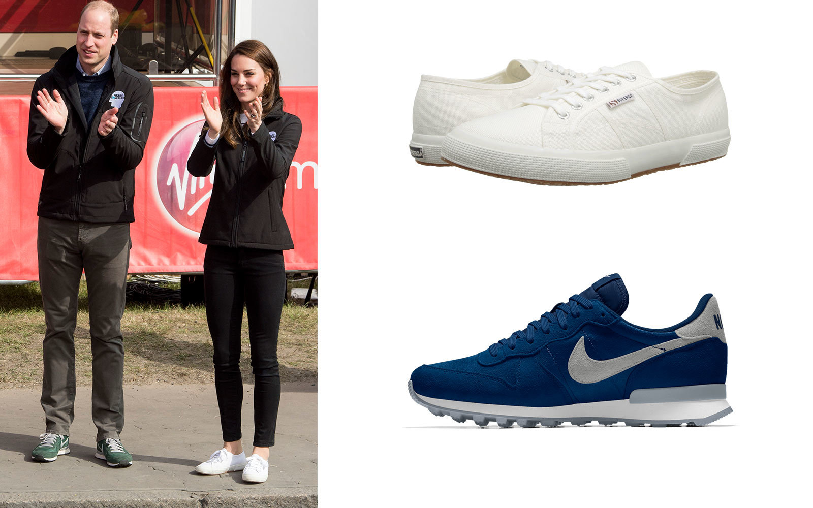 William and Kate Middleton sneakers
