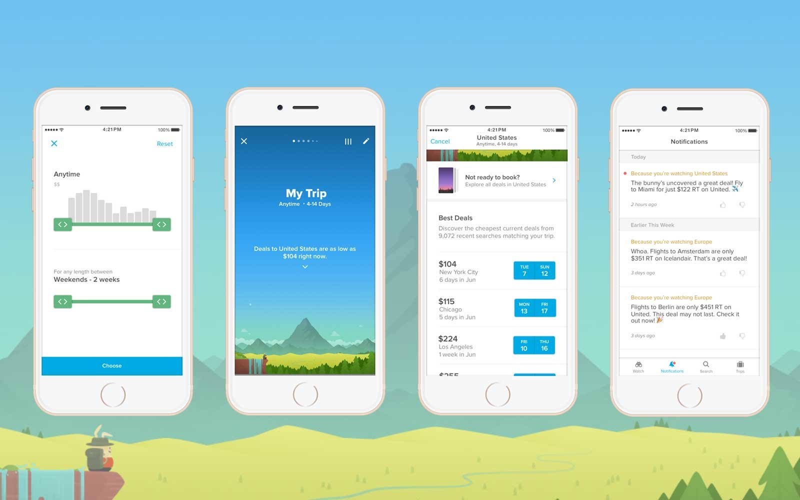 Fare Alerts for Travel with Hopper