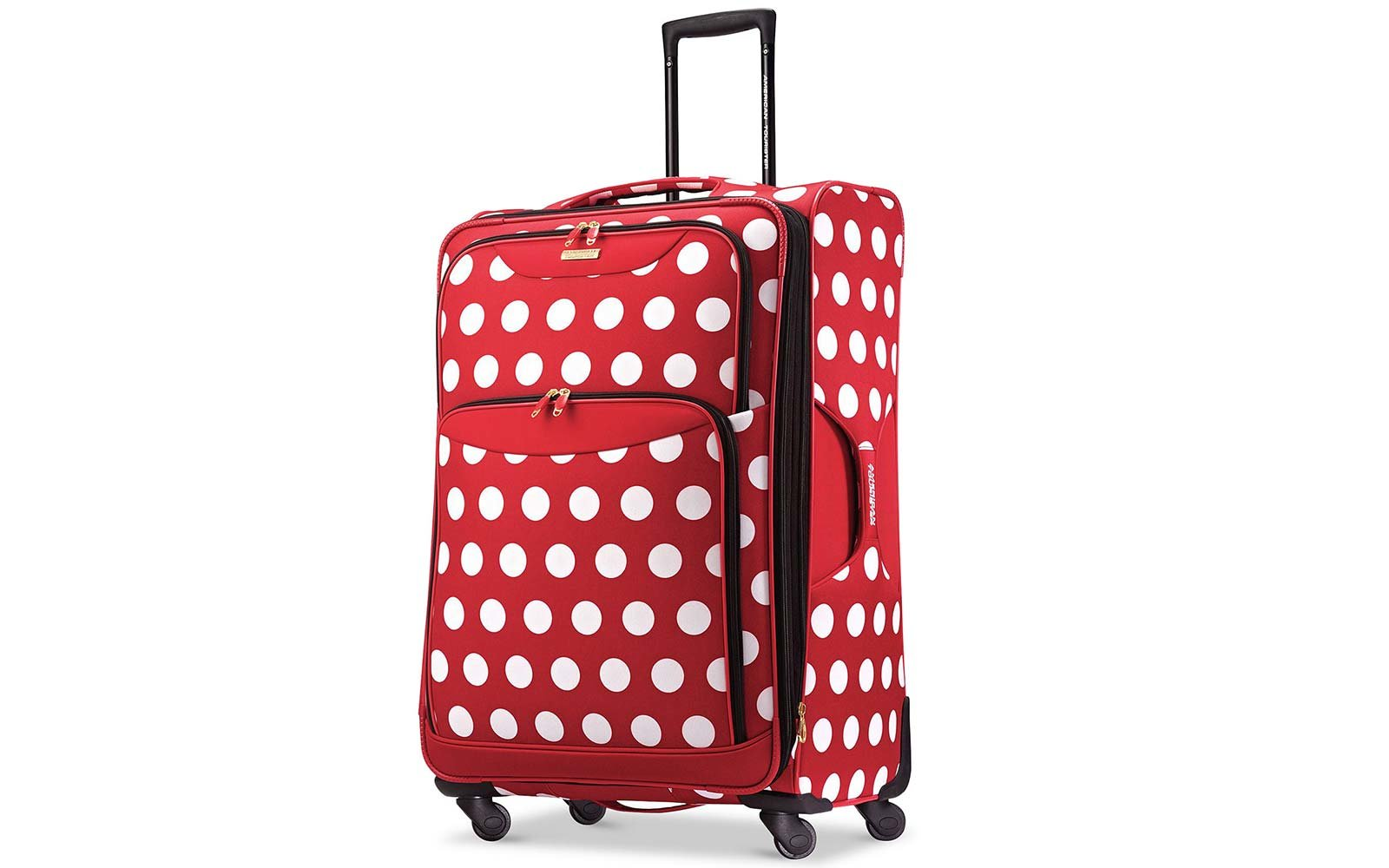 american tourister disney minnie mouse polka dot spinner suitcase