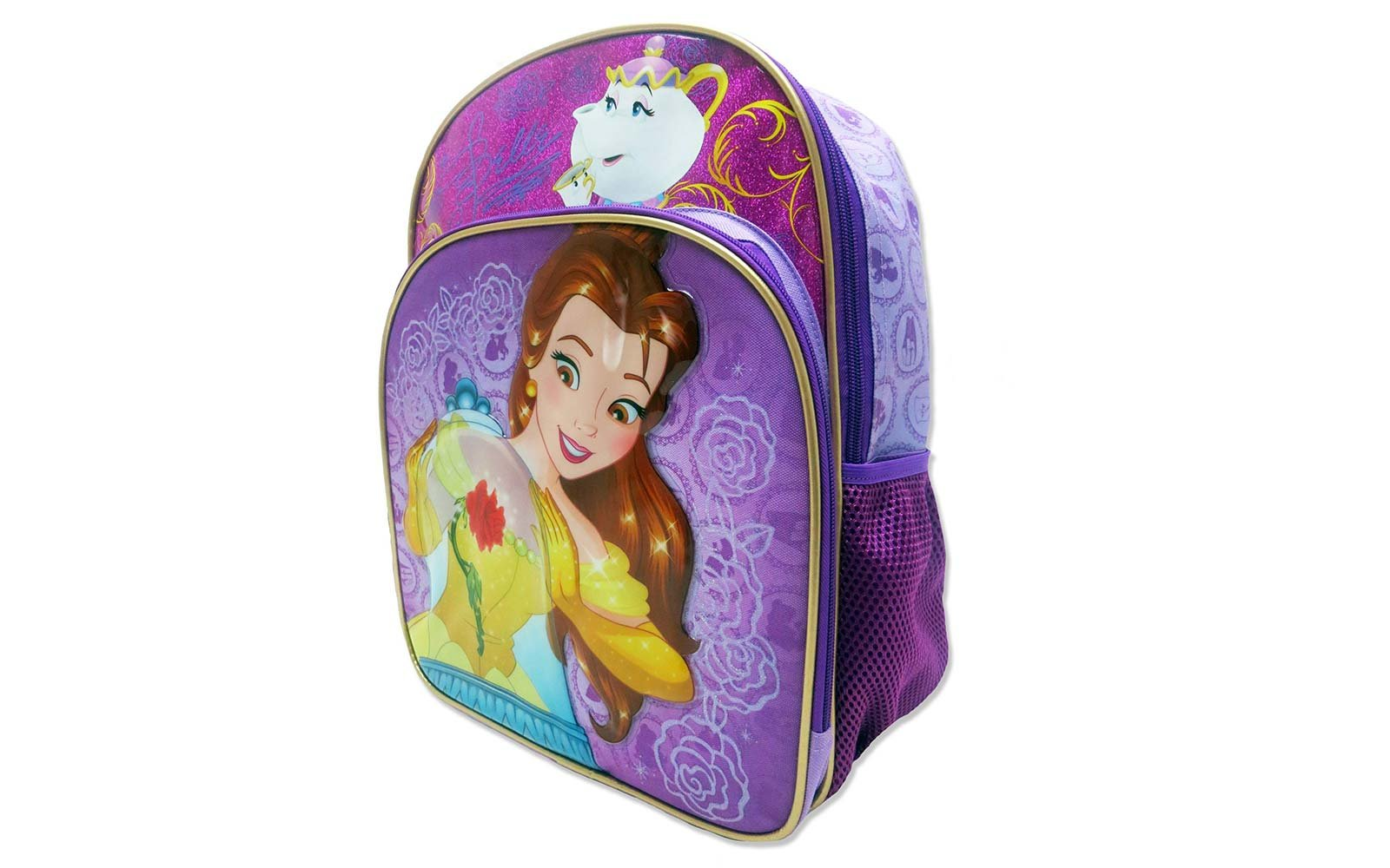 beauty and the beast disney kids backpack luggage