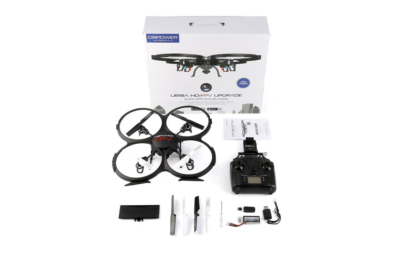 Wifi FPV Version U818A Drone with 720P HD Camera