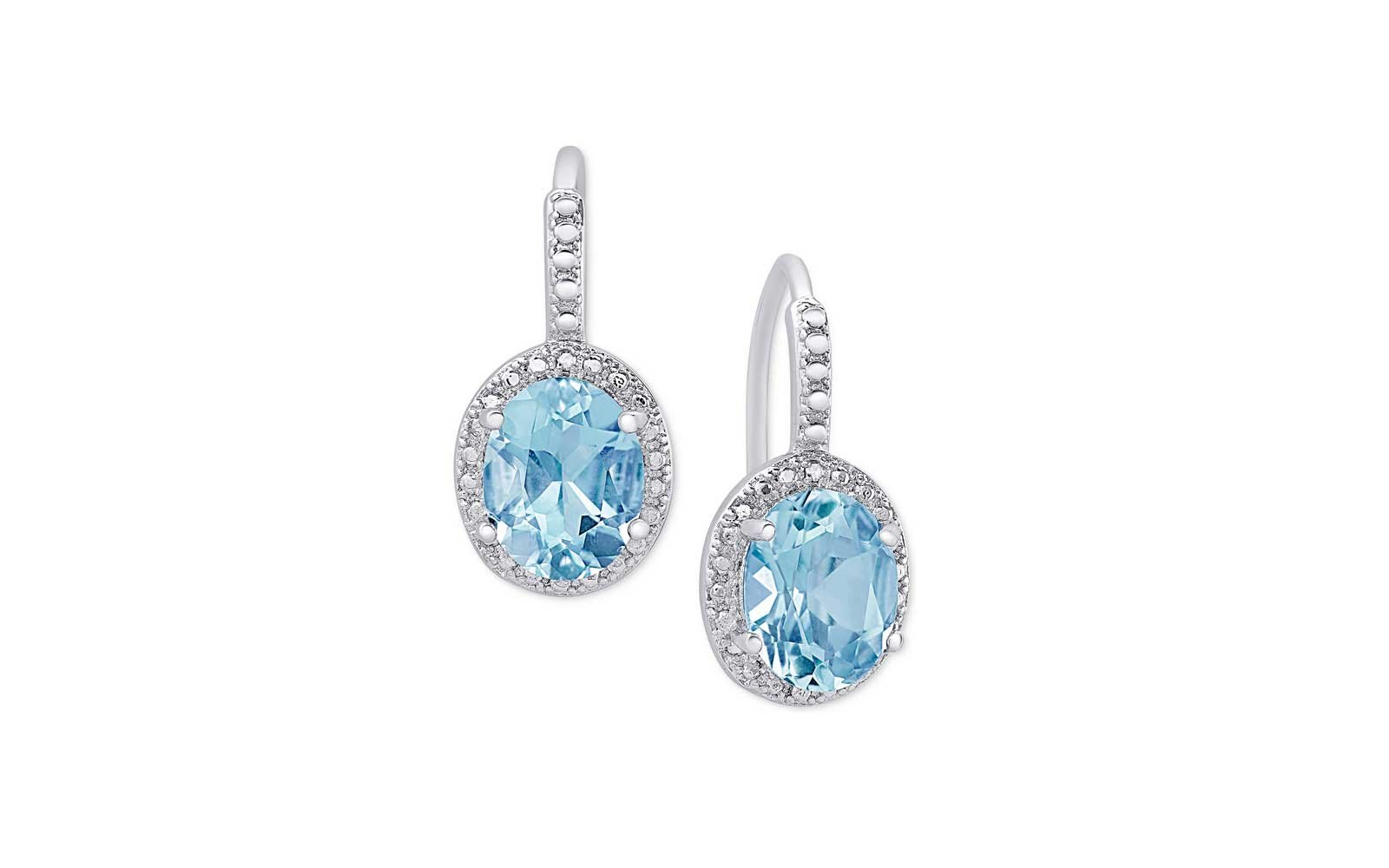 Blue Topaz and Diamond Accent Drop Earrings