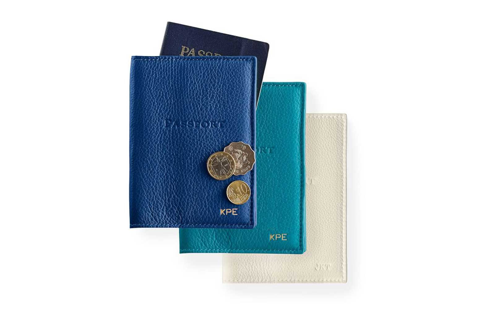 Monogrammed Leather Passport Covers