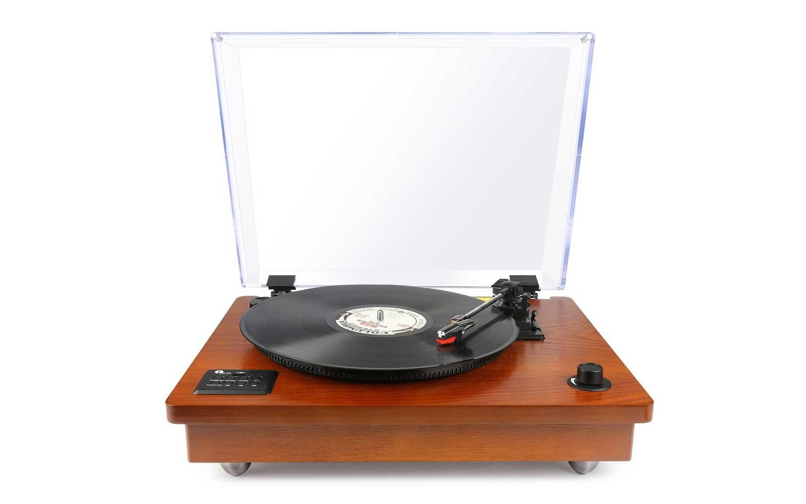 Turntable With Built-in Stereo Speaker, Vintage Style Record Player