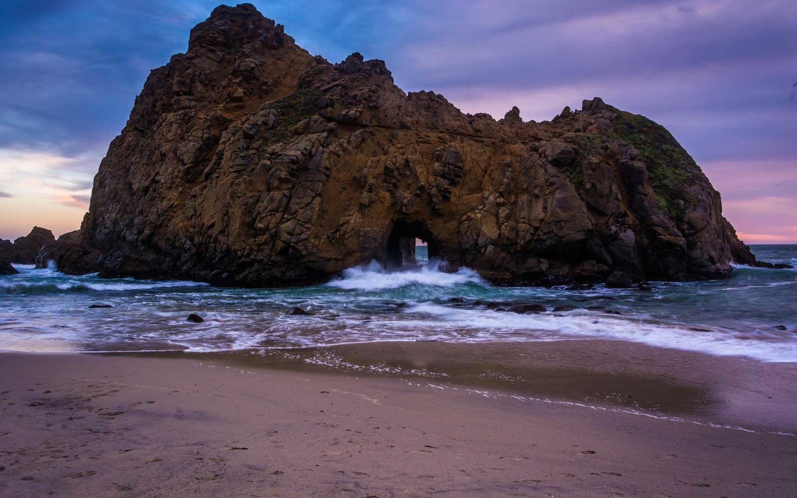 Pfeiffer Beach Los Padres National Forest California