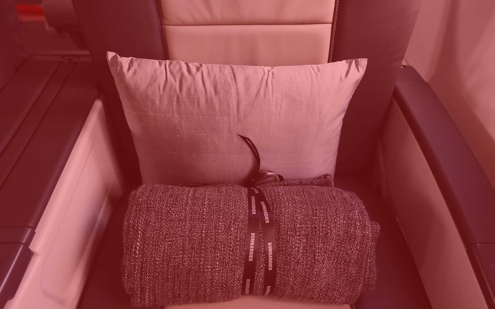 Airplane Blanket in Seat