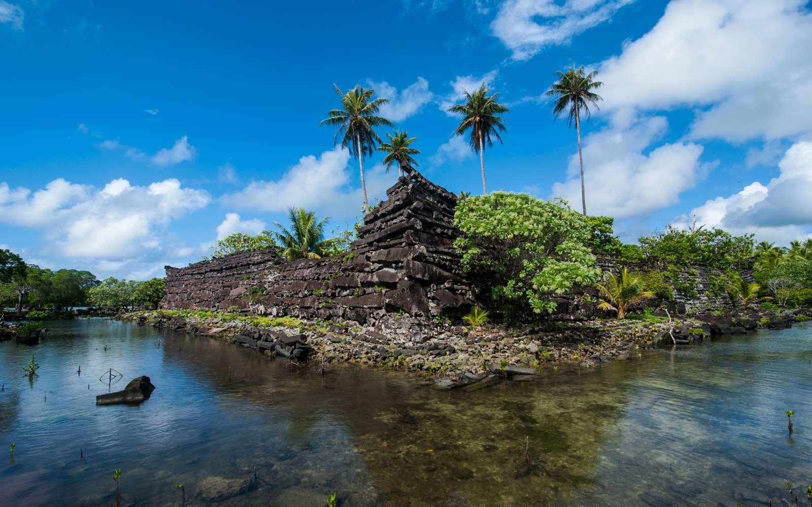Nan Madol ruins in Pohnpei, Micronesia