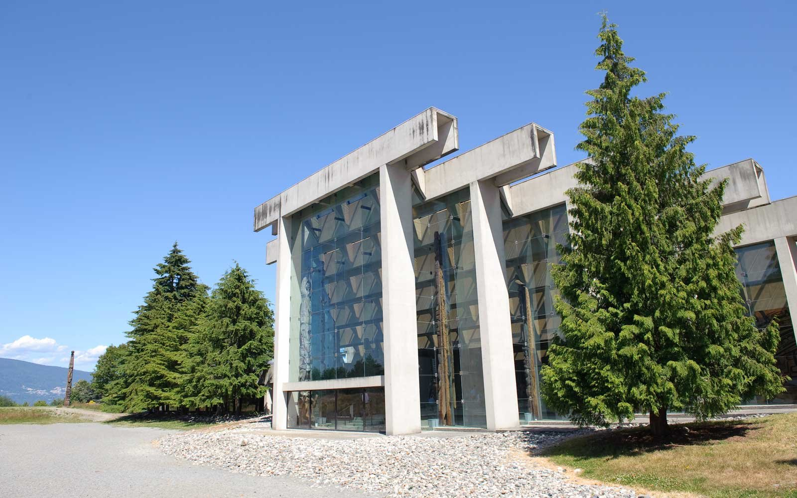 The exterior of the University of British Columbia's museum of Anthropology, designed by architect Arthur Erickson