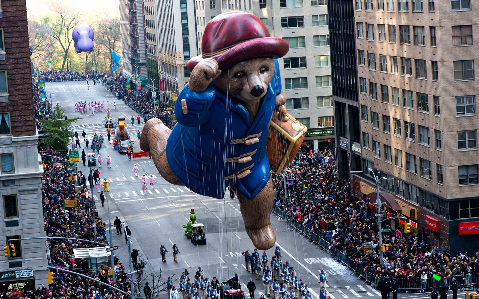 Paddington Bear float at Macy's Thanksgiving Day Parade