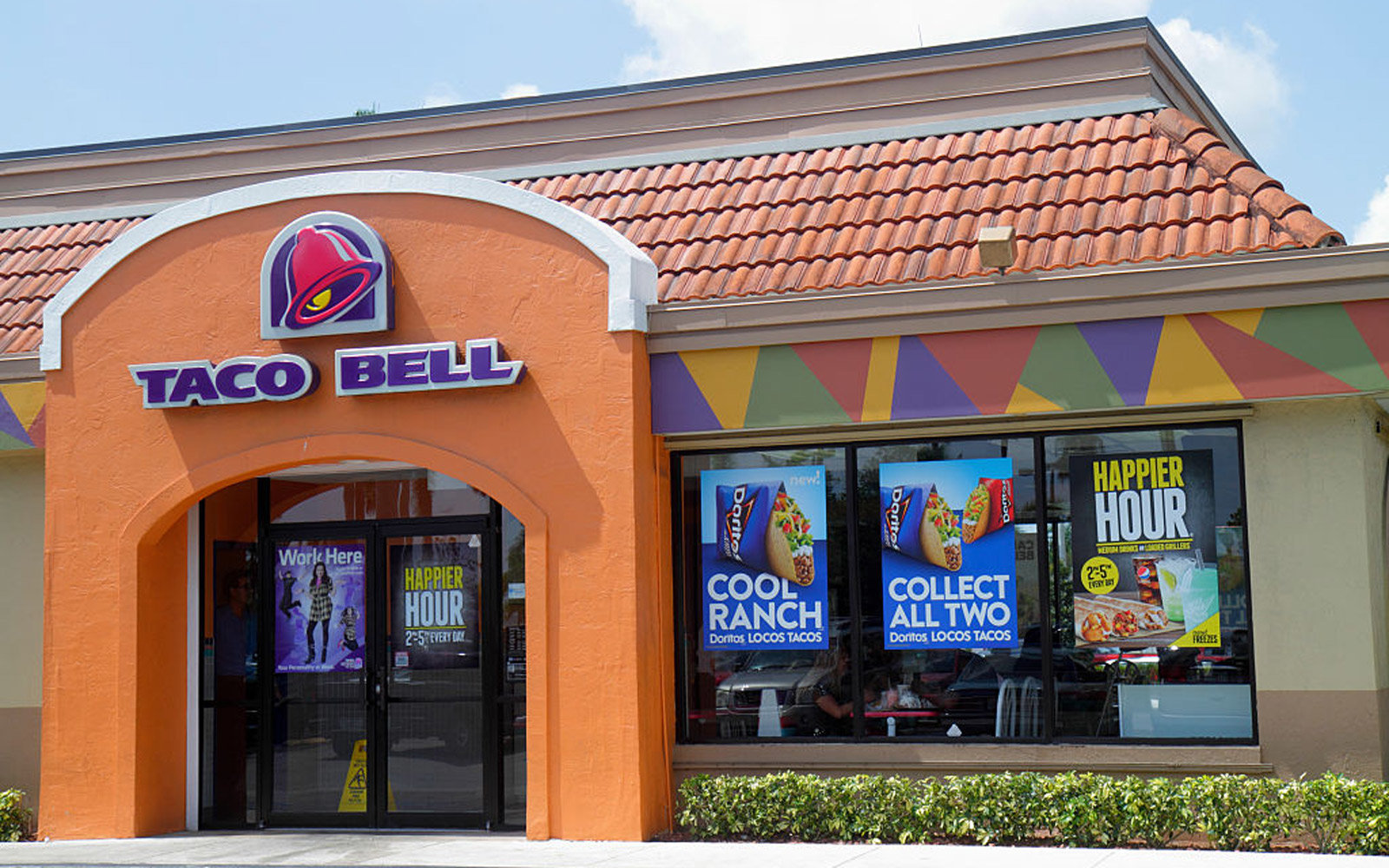 Taco Bell entrance at Homestead.
