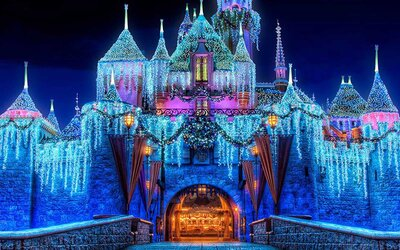 Watch Disneyland Transform for the Holidays by Night in This