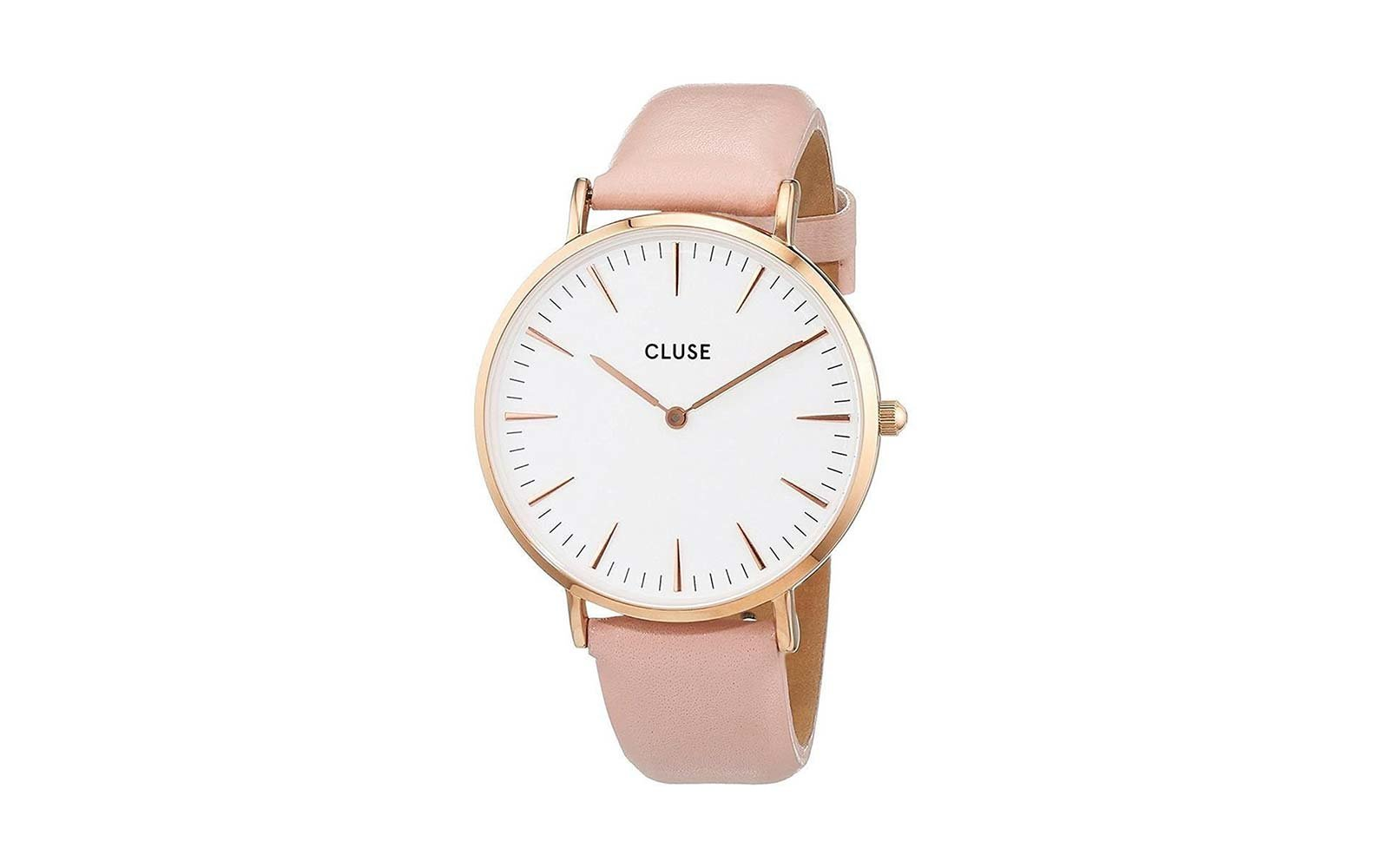 CLUSE La Bohème Round Watch, Leather Band