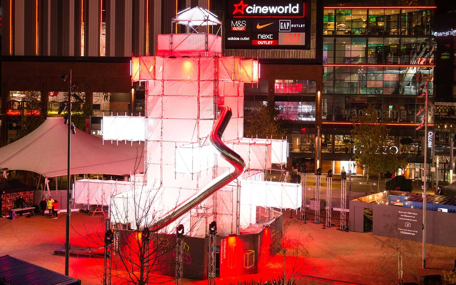 Slideatron Christmas attraction in Wembley Park, London
