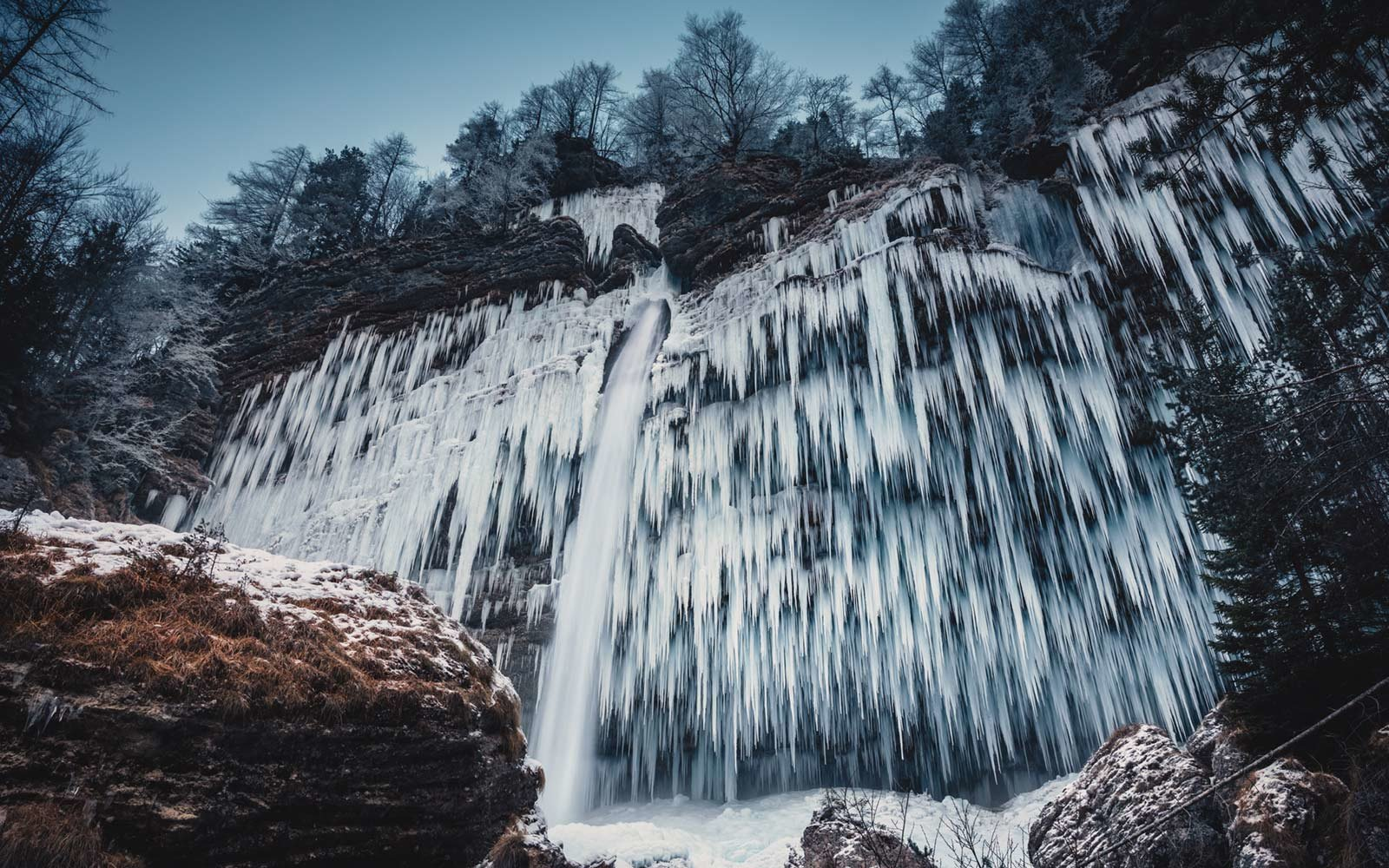 Sharp Icicles, Pericnik Waterfall, Slovenia