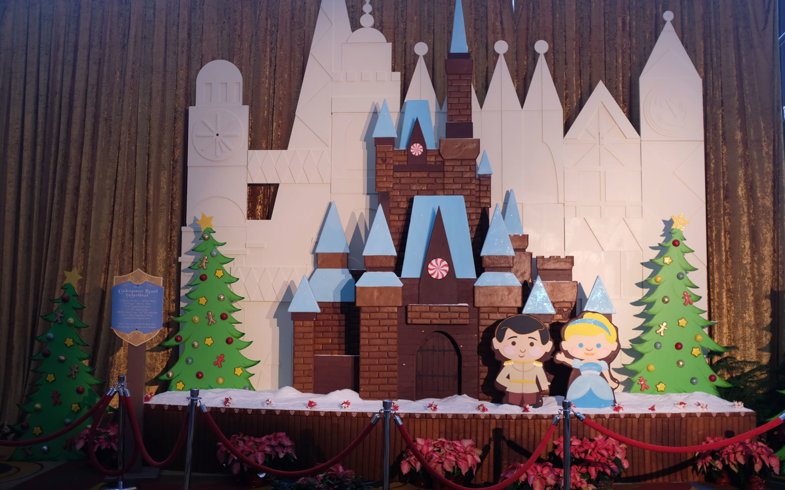 Cinderella castle gingerbread