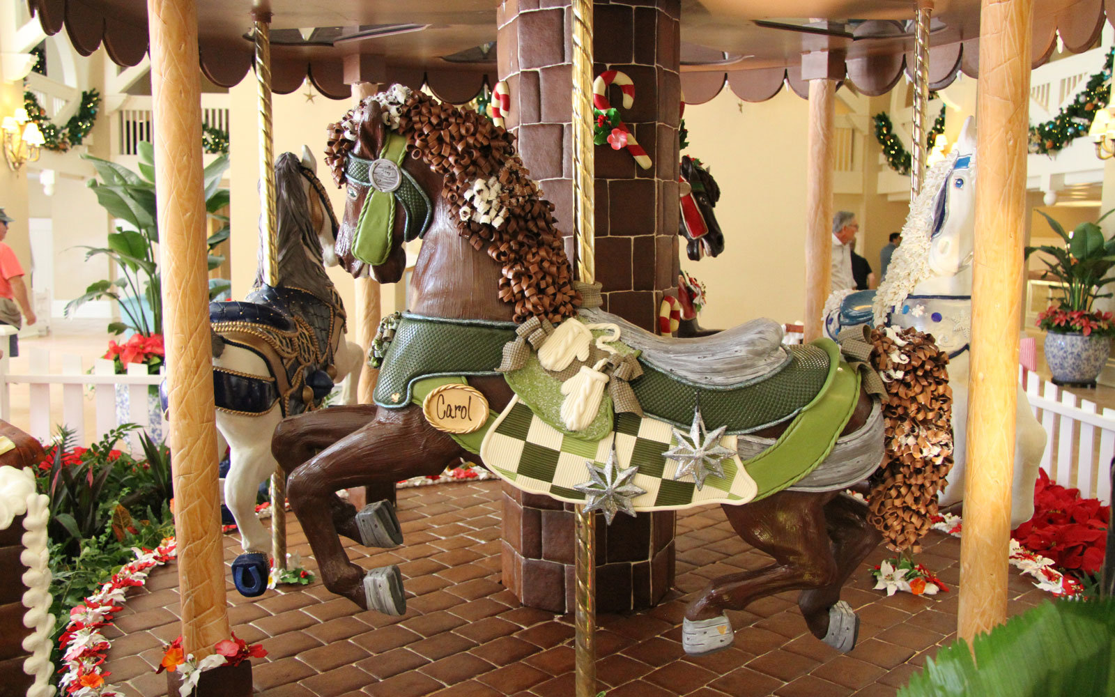 Gingerbread carousel at Beach Club
