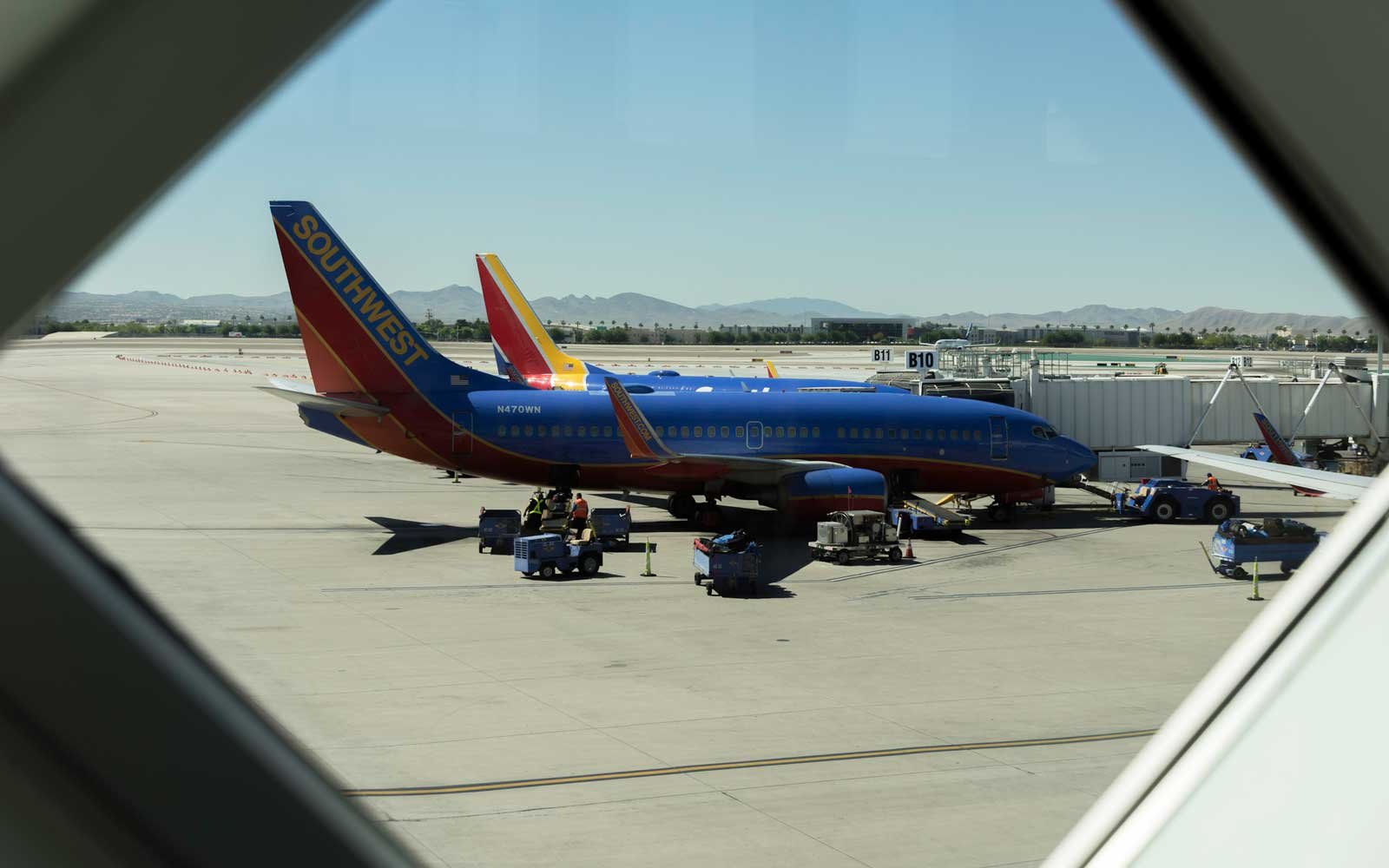 Southwest Airlines plane at gate