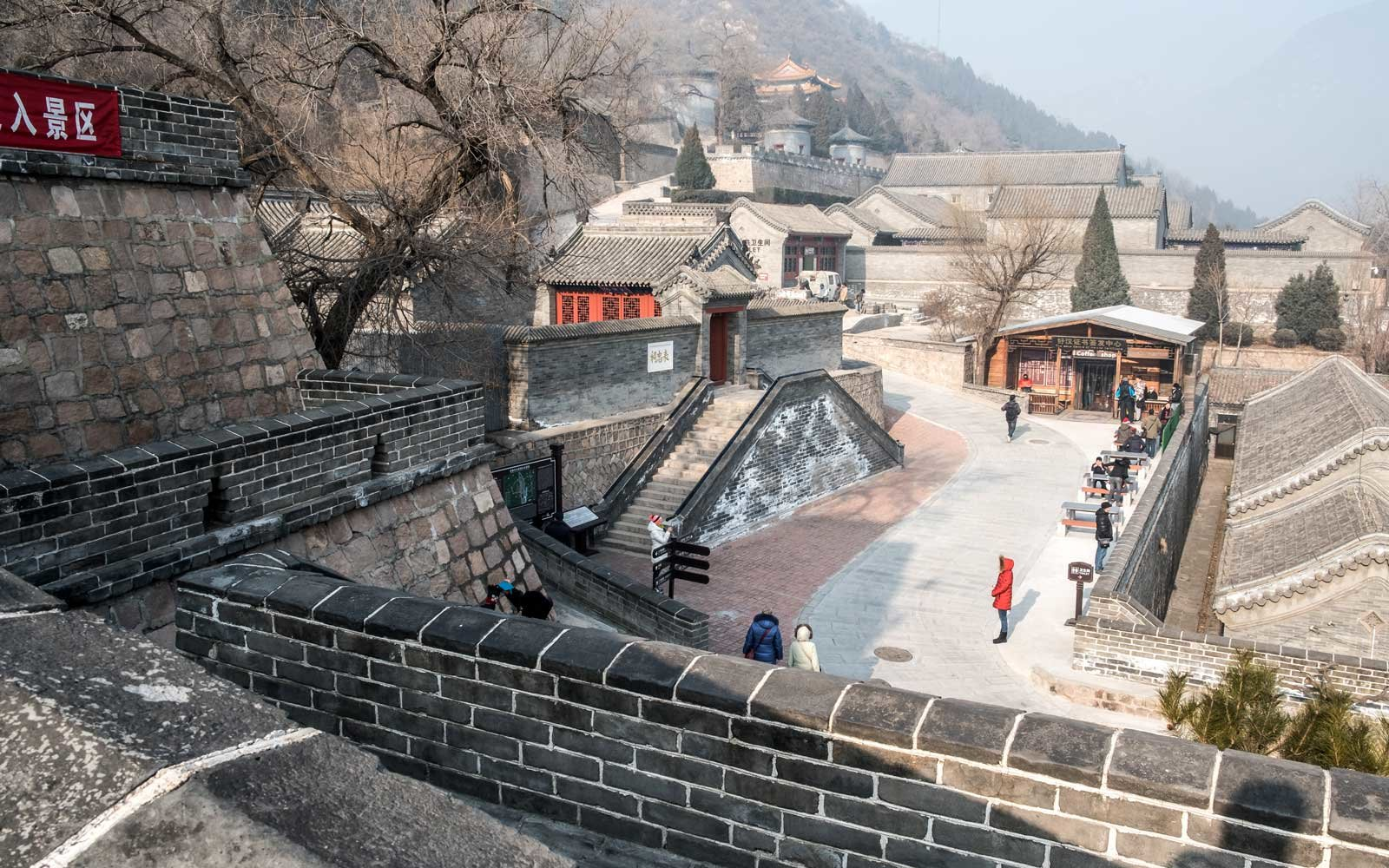 Old Chinese village in the mountain range, Great Wall of China, Beijing, China