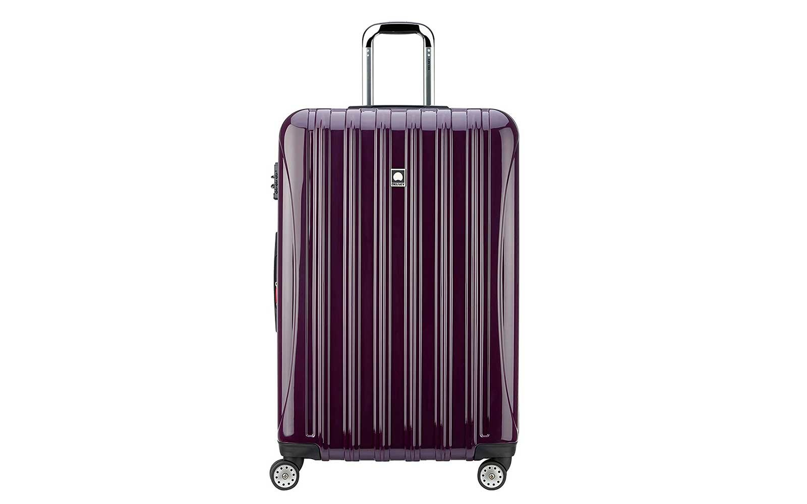 Delsey hard sided rolling luggage