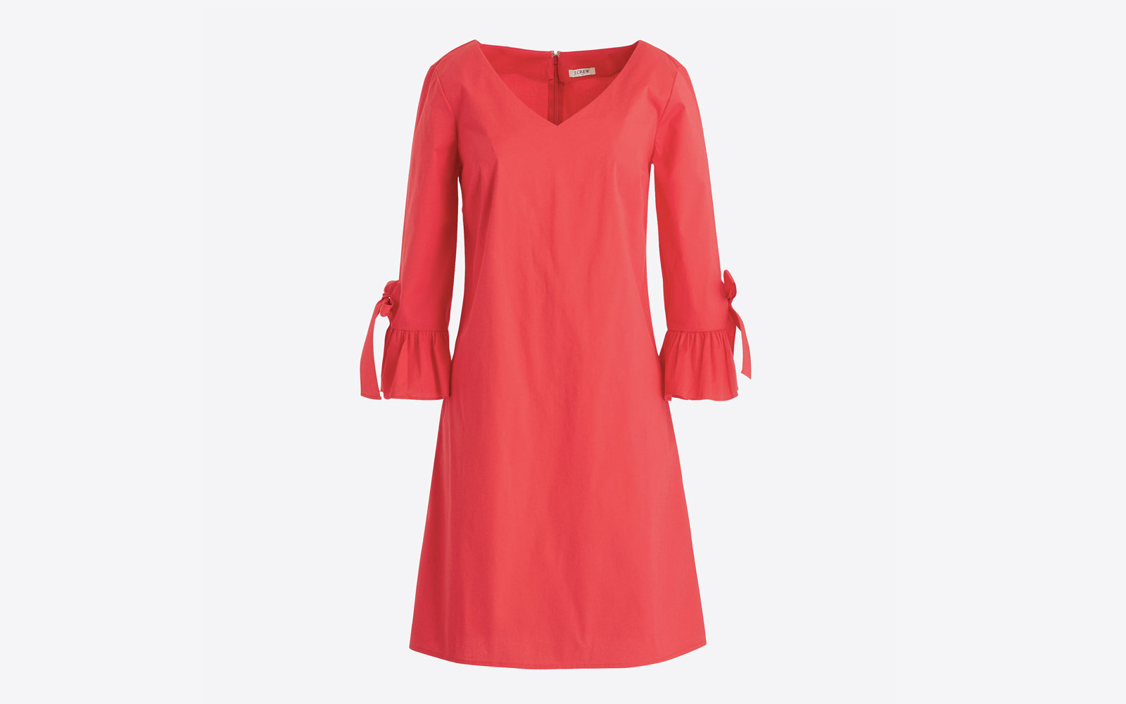 Ruffle Tie-sleeve Dress in Belvedere Red