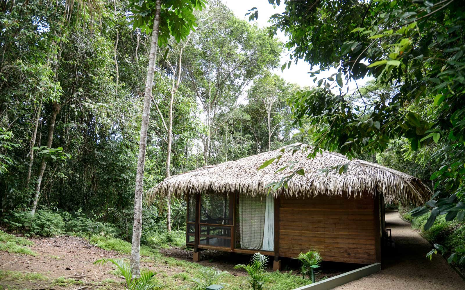 A cabin at the Anavilhanas Jungle Lodge, in Brazil