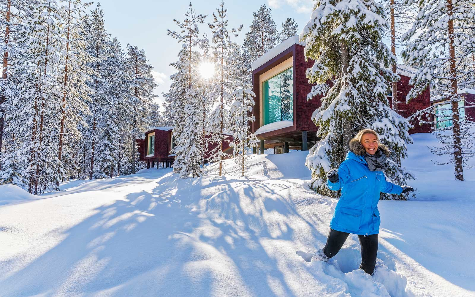 On the grounds of the Arctic TreeHouse Hotel, in Finland