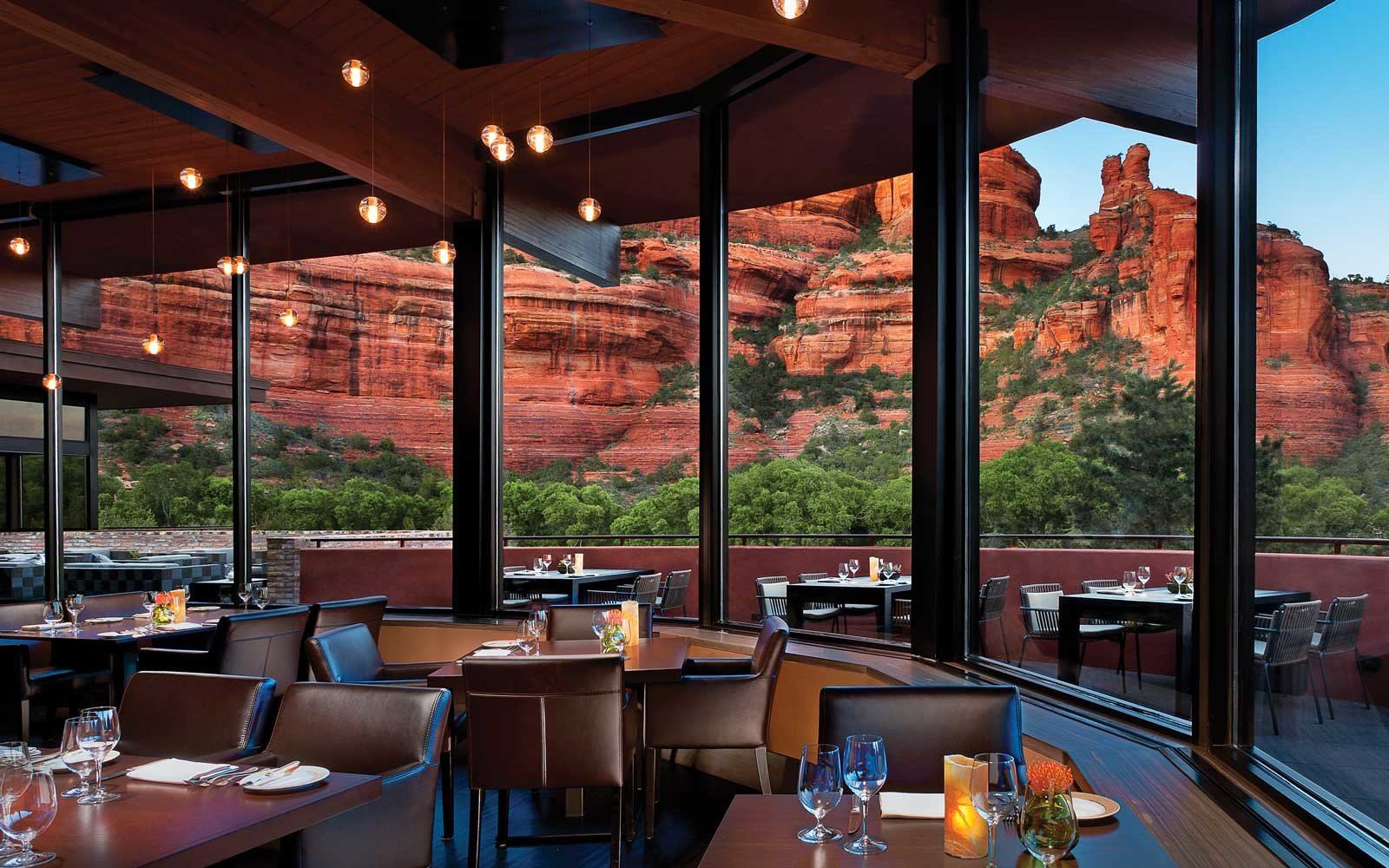 View form the dining room at the Enchantment Resort, Sedona