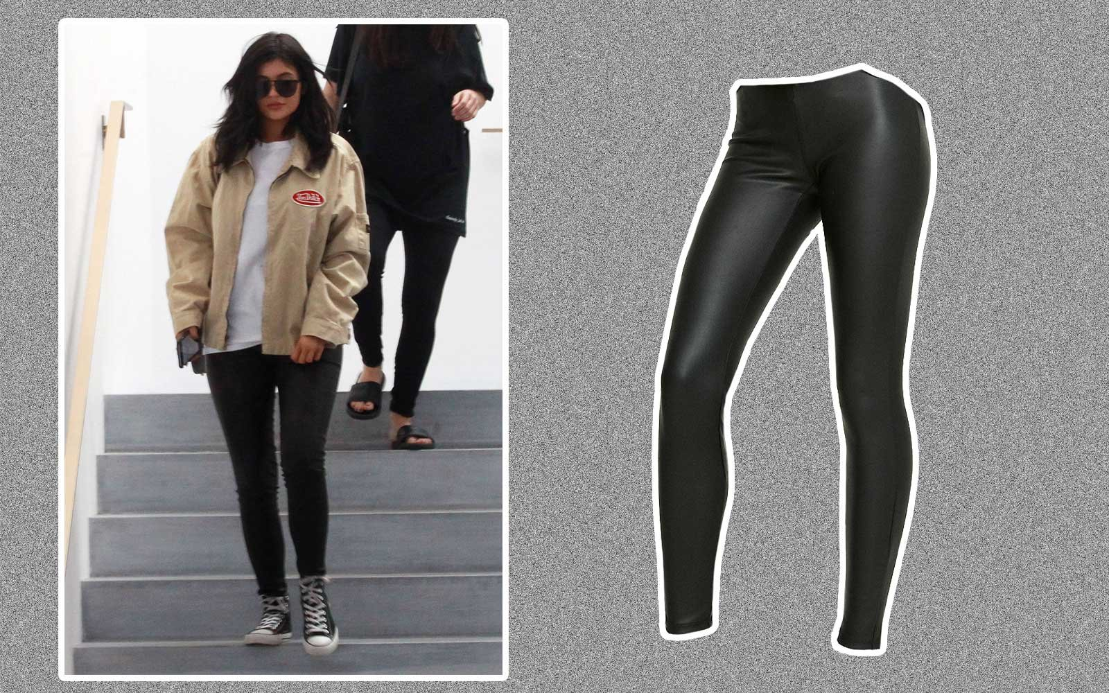 Celebrities in leggings