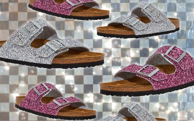 ec65b0981db These Sparkly Birkenstocks Are the Comfy Cinderella Slippers We ve ...