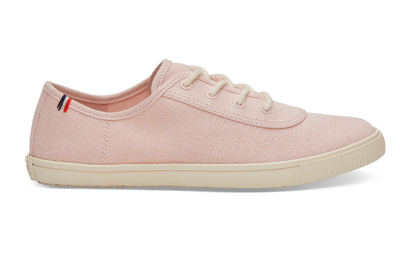 Clare V. Pale Pink Canvas Women's Carmel Sneakers