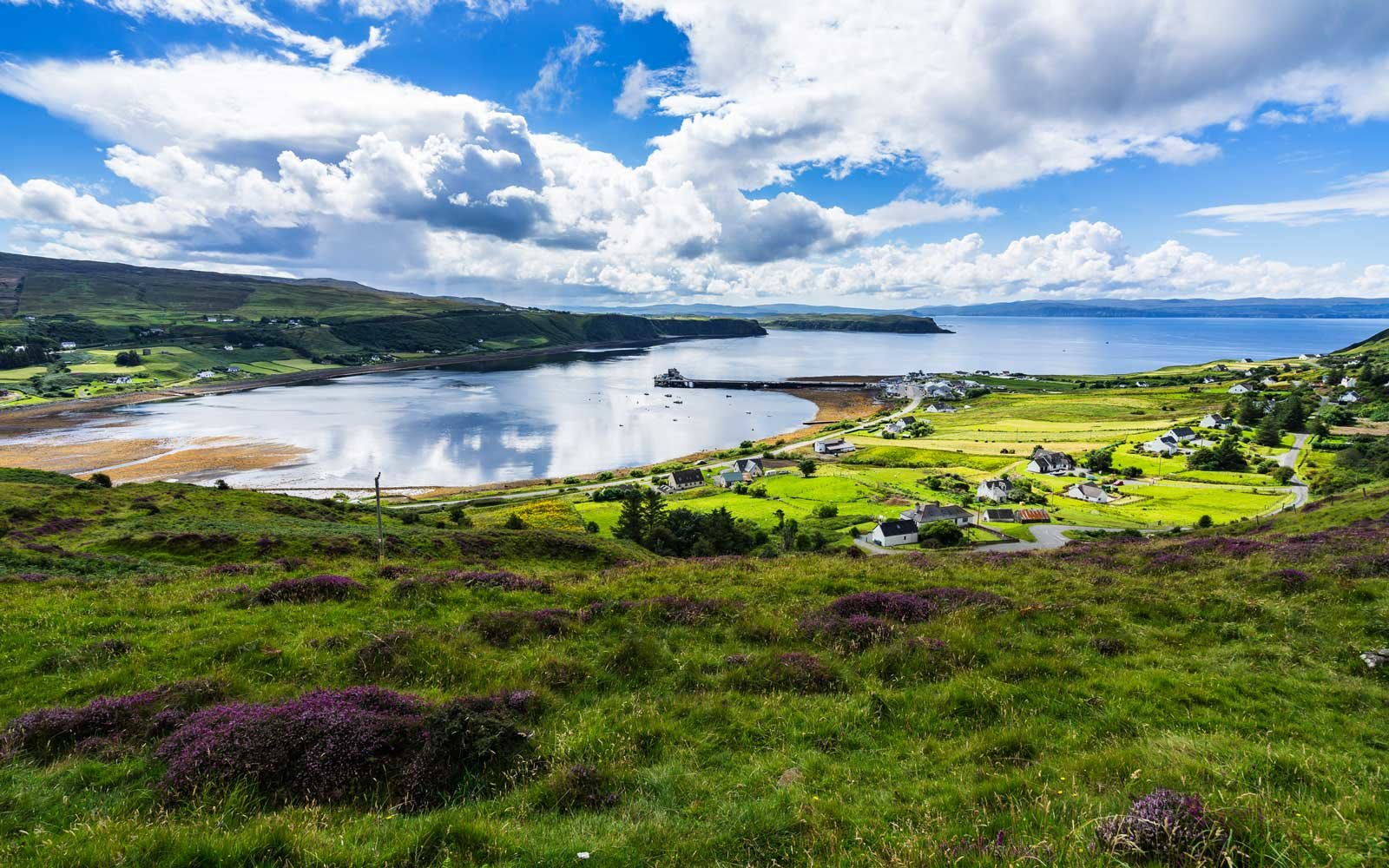 Trotternish peninsula during a summer day, Isle of Skye, Scotland, Britain