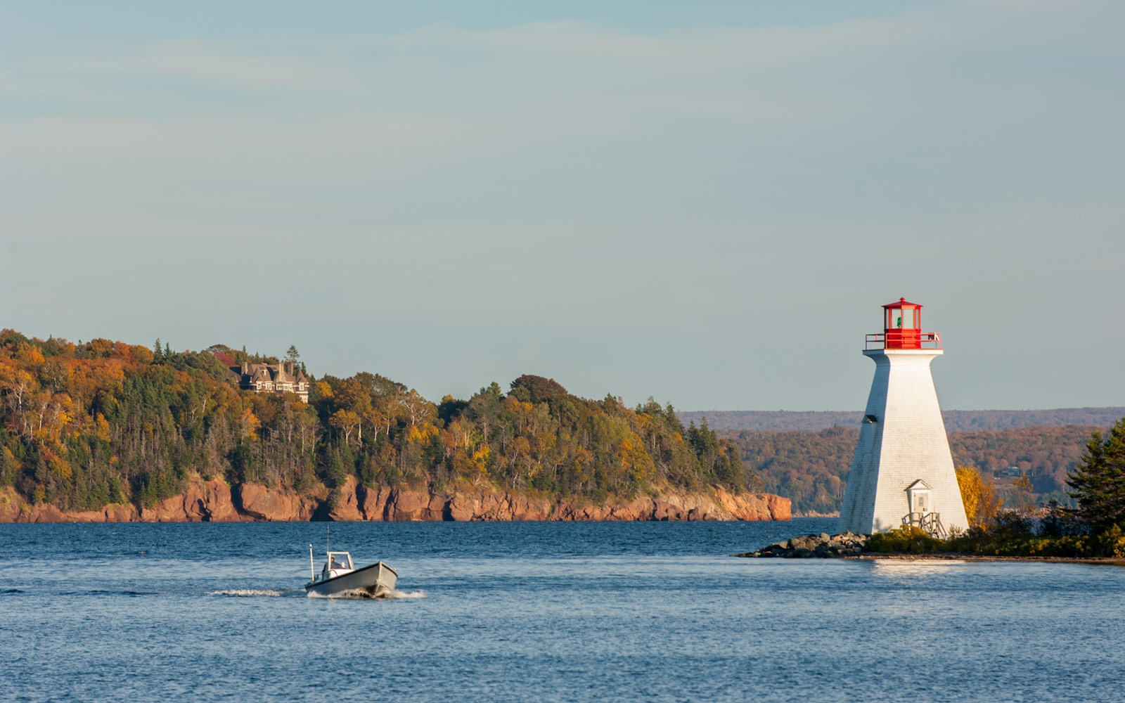 Baddeck Light House, Cape Breton Island, Nova Scotia, Canada